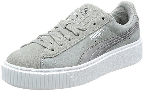 Puma Shoes – Suede Platform Safari Wn´s grey/silver/white size: 37