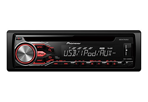 Pioneer DEH-X2800UI Single DIN In-Dash CD AM/FM w/Android/iPod/iPhone, Pandora, MIXTRAX Control, Front Auxiliary & USB Inputs Car Stereo Receiver, Remote Control and Detachable Faceplate by Pioneer