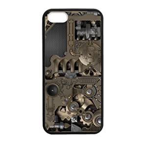 classic gear steampunk design,Gears old machine pattern Apple iphone 5 or 5s Plastic and TPU (Laser Technology) Durable Case