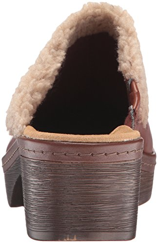 Womens Leather Clarks Toe Preslet Tan Closed Clogs Dark Grove pxn4Oawxq