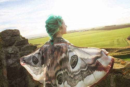 Moth wings costume butterfly small cape fairy clothing]()