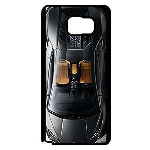 Cover Shell Racing Car Automobili Lamborghini S.P.A.Phone Case for Samsung Galaxy Note 5 Cool Black Luxury Lamborghini Logo Design