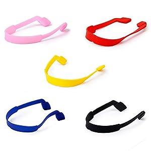 VORCOOL 5 Colors Eyeglasses Sunglasses Glasses Anti-slip Elastic Silicone Headband Strap