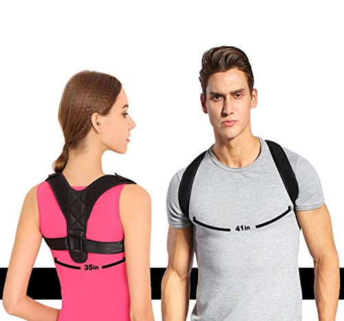 (Taisk Back Posture Corrector Spinal Support, Posture Corrector Back and Shoulder Support Brace for Women and Men for Thoracic Kyphosis and Shoulder - Neck Pain Relief)