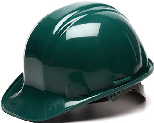 Pyramex Safety SL Series Cap Style Hard Hat, 4-Point Snap Lock Suspension, Green]()