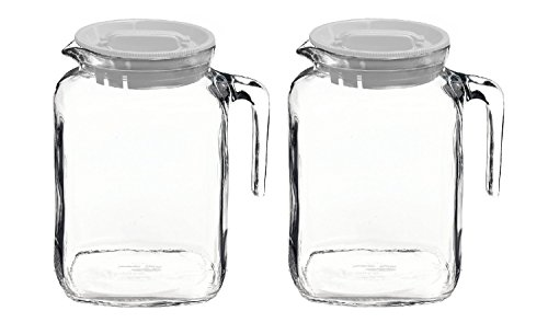 2 liter glass pitcher with lid - 6