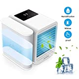 Trevoz Personal Air Cooler Portable Air Conditioner Fan, Evaporative Humidifier, Purifier, 3 in 1 USB Mini air Cooler Office Desktop Cooling Fan