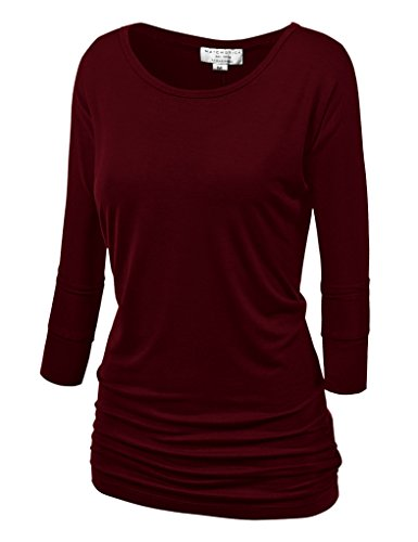 Red 3/4 Sleeve Top - 5