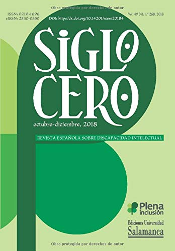 Libro : Siglo Cero Revista Española sobre Discapacidad...
