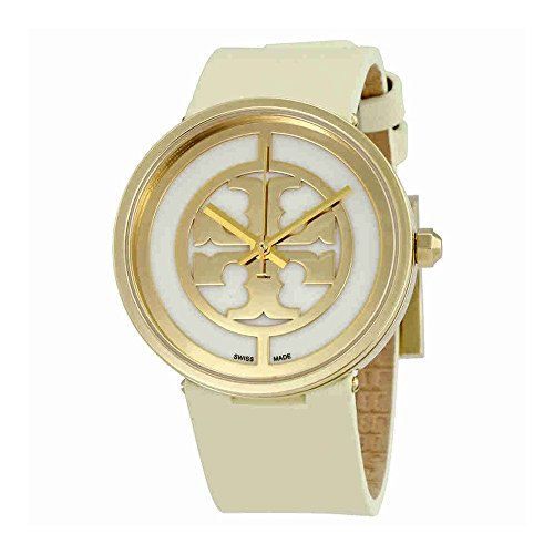 Tory Burch Reva 36mm Ivory Leather Gold - Reva Burch