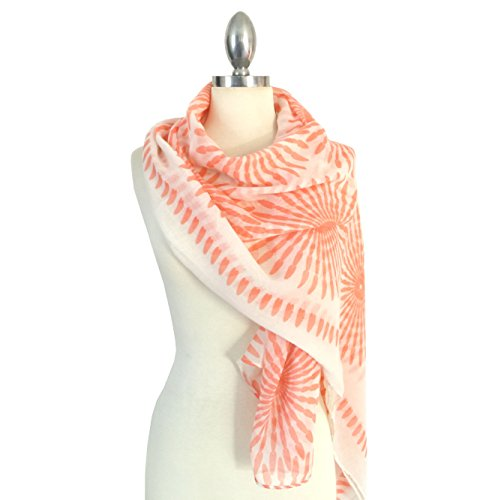 Califul Lightweight Scarves: Fashion Lace Print Shawl Wrap For Women (Oblong Scarf 5027 - Print Scarf Lace