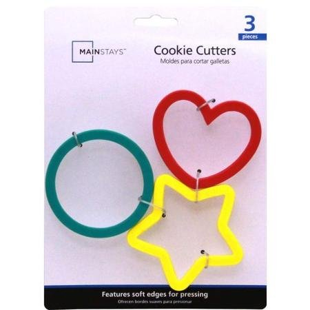 Mainstays Soft Cookie Cutters Heart Circle and Star