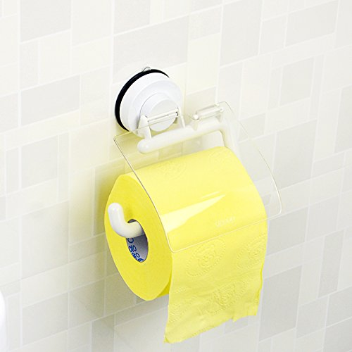 Znzbzt suction cup mount toilet paper towel rack waterproof roll feeder creative hand paper toilet paper toilet paper towel cartridge drawer Anti-lock S60