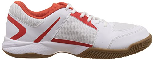 Puma Veloz Indoor II - Zapatillas deportivas para interior de material sintético Unisex adulto Blanco - Weiß (white-black-puma red 03)