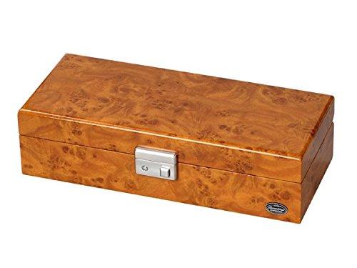 LUWH 木製 鍵付 ウォッチボックス/腕時計 収納ケース 4本収納 LU51005RW 木目 ブラウン B01KXMCC4G