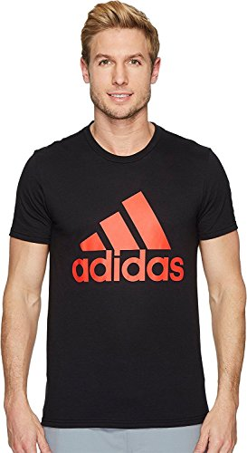adidas Men's Badge of Sport Graphic Tee, White/Shock Blue, Medium