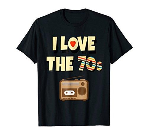 (I Love The 70s Shirt - Retro Radio Vintage for Men)