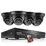SANNCE Security Camera System 8CH 5-in-1 AHD/CVI/CVI/CVBS/IP 1080N DVR Recorder with 4PCS 720P Surveillance Camera IR Cut Day Night Vision -1TB Hard Disk