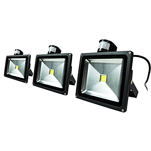 Cheap eTopLighting BLEFPIR30-3P 3 Piece Outdoor Pir Motion Sensor LED Flood Light 120V 30W Home Security Lighting 2500 Lumen IP65