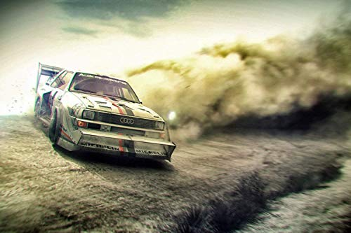 TST INNOPRINT CO Audi Quattro Rally Car Silk Poster 36x24 Inches