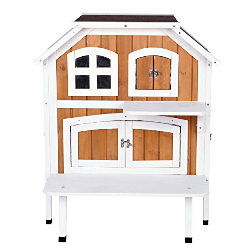 Trixie Pet Products 2-Story Cat Cottage, Brown/White -  44095
