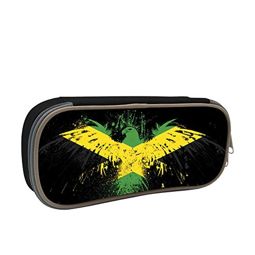 SsSEYYA Meaning of The Jamaican Flag Pencil Bag Makeup Pen Pencil Case Big Capacity Pouch Durable Students Stationery with Double Zipper Pen Holder for School/Office (Sonnenbrille, Make-up)
