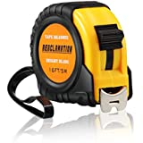 Measuring Tape Metric and Inches, Tape Measure Retractable with Easy Read Numbers, Bright Blade, 16Ft/6M Measuring Tape Ruler for Engineers, Construction, Outdoor AEXCLAMATION