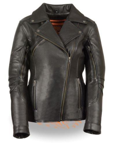 Ladies Leather Bike Jacket - 9