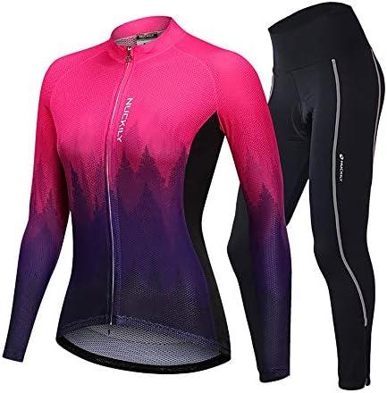 サイクルジャージ 女性のジャージー長袖スーツ自転車レーシングスーツサイクリングジャージースポーツウェアトップ通気性UV保護 吸汗速乾高通気 (色 : A2, サイズ : XXL)