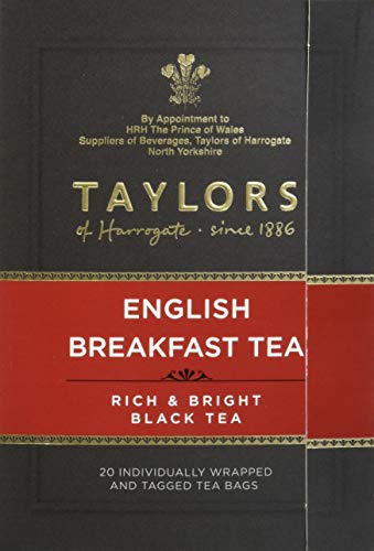 Taylors of Harrogate English Breakfast, 20 Count (Pack of 6)