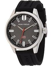 ساعة كوارتز للرجال انالوج بحركة كوارتز وسوار من السيليكون من ميني فوكس طراز MF0054G.01