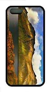 iPhone 5S Customized Unique Panoramic Landscape New Fashion TPU Black iPhone 5/5S Cases - Scenery Flowers