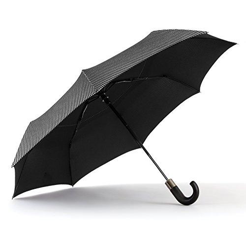shedrain-windpro-auto-open-auto-close-vented-print-umbrella-black-micro-plaid