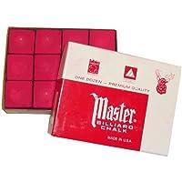GamePoint Maître d'origine USA Billard Chalk, 12 piéce en carton (bleu/vert/rouge/gris)
