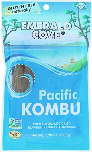- Emerald Cove Silver Grade Pacific Kombu (Dried Seaweed), 1.76 Ounce Bag