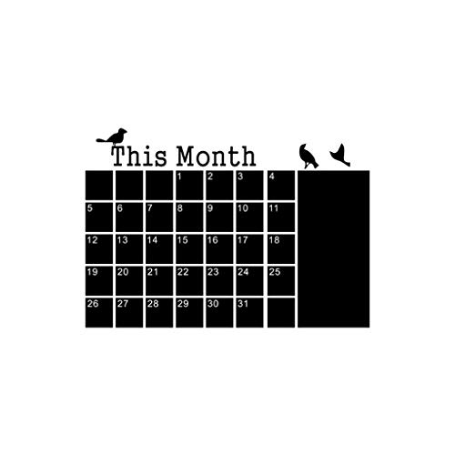 Rape Flower DIY Monthly Planner Calendar Blackboard Chalk Board Removable Wall Sticker Decal - Calendar Floral Antique Monthly Desk