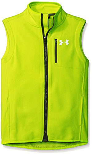Performance Fleece Vest (Under Armour Boys' ColdGear Infrared Performance Fleece Vest, High-Vis Yellow/Graphite, Youth Medium)