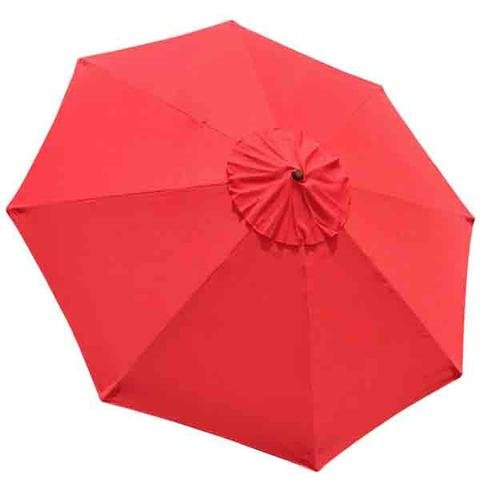 AMPERSAND SHOPS Replacement Canopy Cover for Outdoor Market Patio Umbrellas 9-Ft, 8-Rib (Red) by AMPERSAND SHOPS