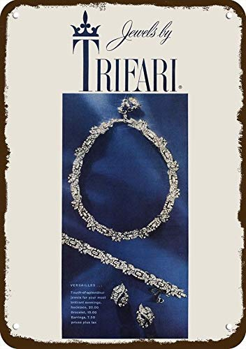 Yilooom 1959 Trifari Jewelry Vintage Look Replica Metal Sign 7