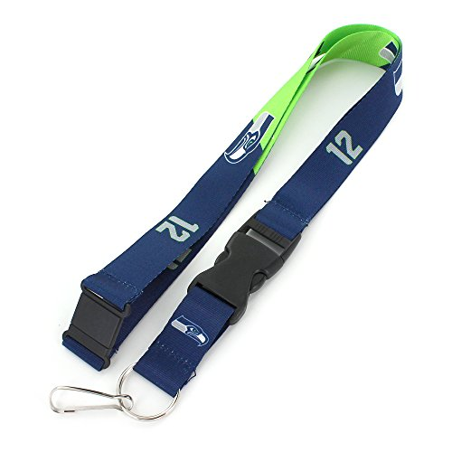 NFL Seattle Seahawks Slogan Lanyard Fan Keychain, (Seattle Seahawks Nfl Lanyard)