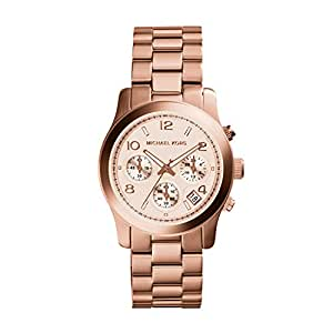 amazoncom michael kors watch womens rose gold plated