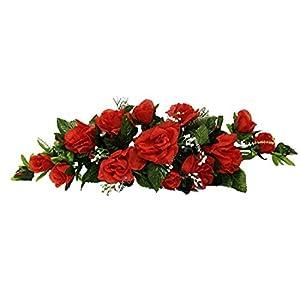 Rose Swags MANY COLORS Silk Wedding Flowers Chuppah Arch Gazebo Centerpiece 6