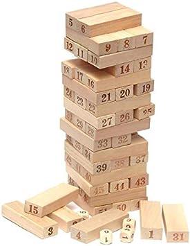 Jengle Le bloques de construcción, juegos de mesa, juegos de bloques de construcción de torre de apilamiento, nuevo juego de volteo de apilamiento de madera MIS: Amazon.es: Bricolaje y herramientas