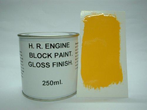 1 x 250ml Daytona Yellow Heat Resistant Engine Block Enamel Petrol Oil Resistant by Fascinating Finishes - Daytona 250