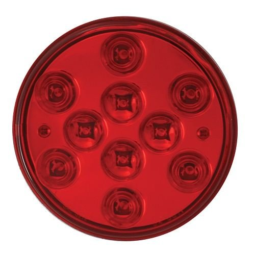 GG Grand General 76846 4 Inch Mega 10 Plus Red Led with Grommet /& Pigtail
