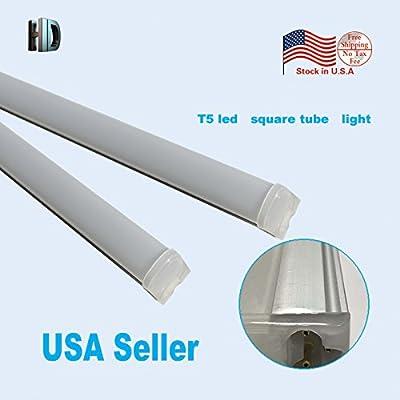 10PCS/LOT 4ft 20W T5 Led Square Tube Light Led Tube T5 Integrated Lamp LED Fluorescent Wall Lamps Light