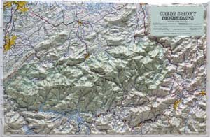 (American Educational Products Raised Relief Map 403 Great Smoky Mtn National Park)
