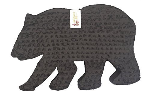 - APINATA4U Black Bear Silhouette Pinata for Lumberjack Party