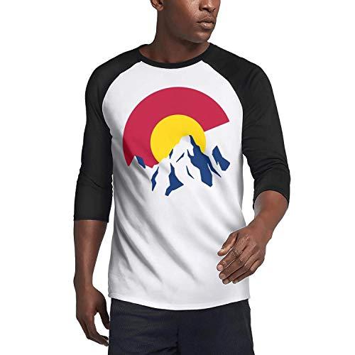 Julius Logo Pant - JIEF0E9KN Colorado Mountain Logo (2) Mens t-Shirts Seamless Collar t Shirts Lightweight 3/4 Sleeve
