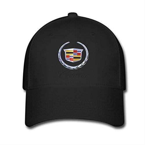 [Adjustable Car Cadillac Logo Baseball Cap Running Cap Black] (Funny Hats For Sale)